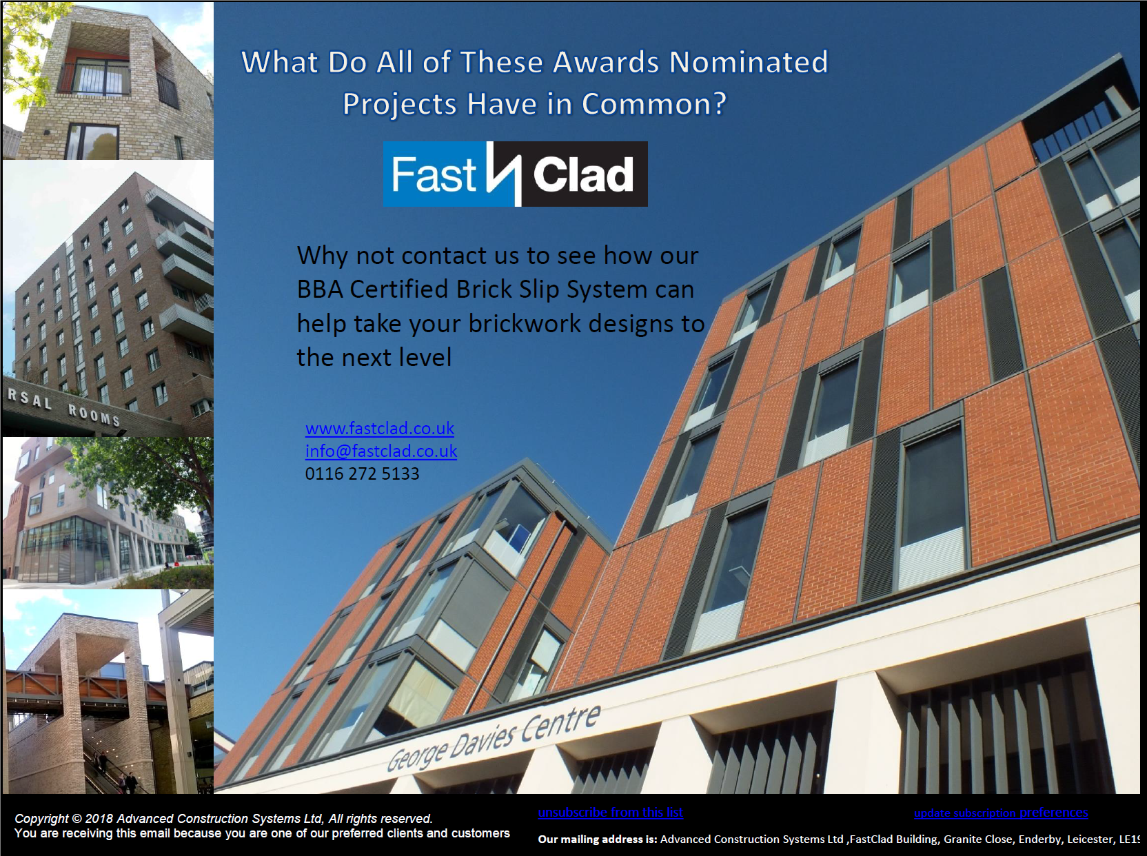 Awards Season is Here and FastClad Features on Many Nominated Projects