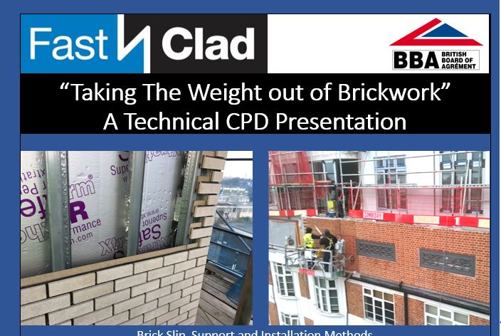 "CPD Presentation ""Taking the Weight Out of Brickwork"""