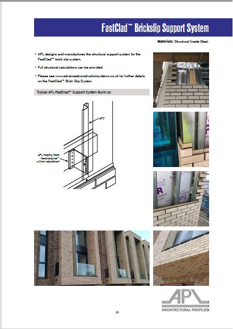 Architectural Profiles Limited's Literature Includes FastClad System