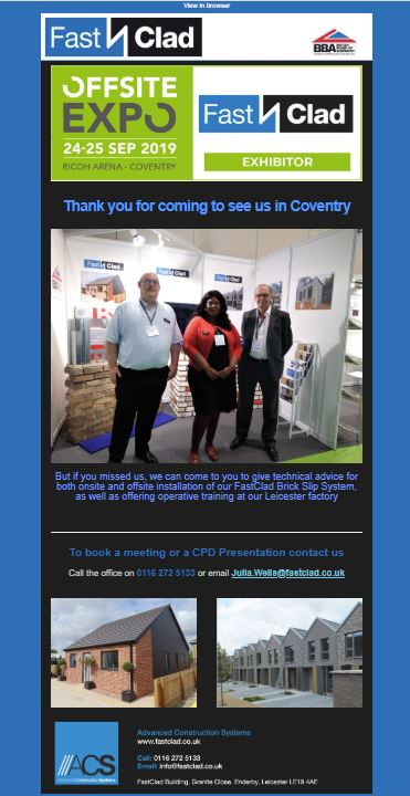 Thanks for Coming to See Us at The Offsite Expo
