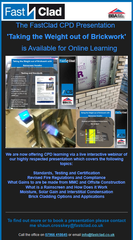 FastClad's CPD Presentation to be Offered Online